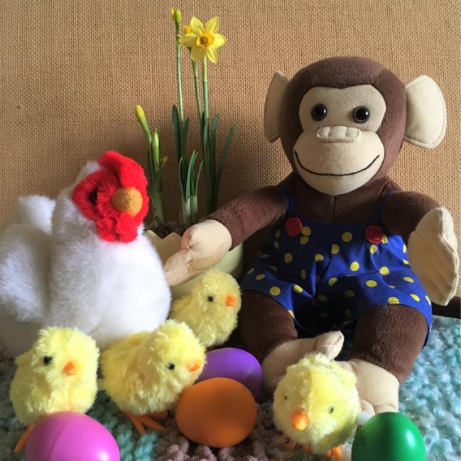 Lente Pasen Japie en kip